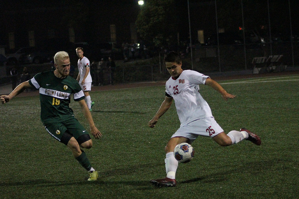 Late goals sink men's soccer
