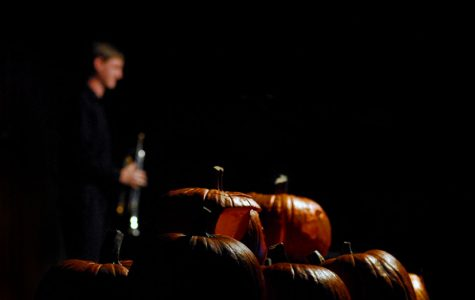 Pumpkins from the carving competition were scattered upon the stage during Thursday night's Punk N' Pie.
