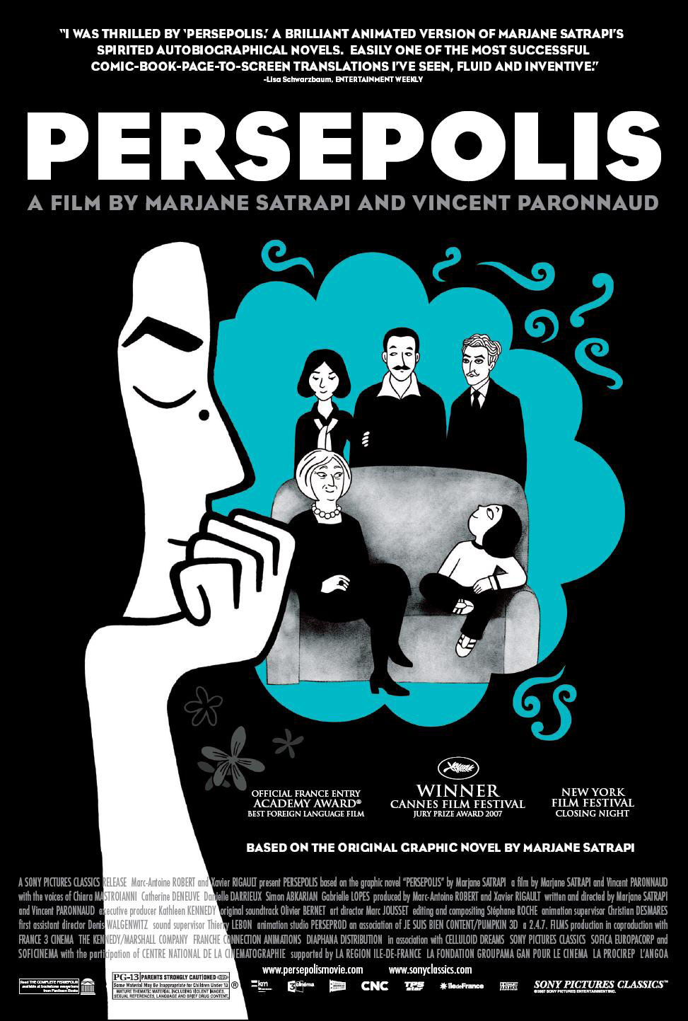 Persepolis Uses Animation Creativity To Paint Grown Up Autobiographical Film The Chimes