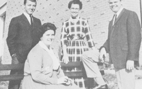 The Officers of the class of 1961 include Ronald Hafer, Treasurer, Mildred McDonald, Secretary, Dennis Guernsey, Vice-President, and Majorie Backus (seated), as Assistant Secretary.