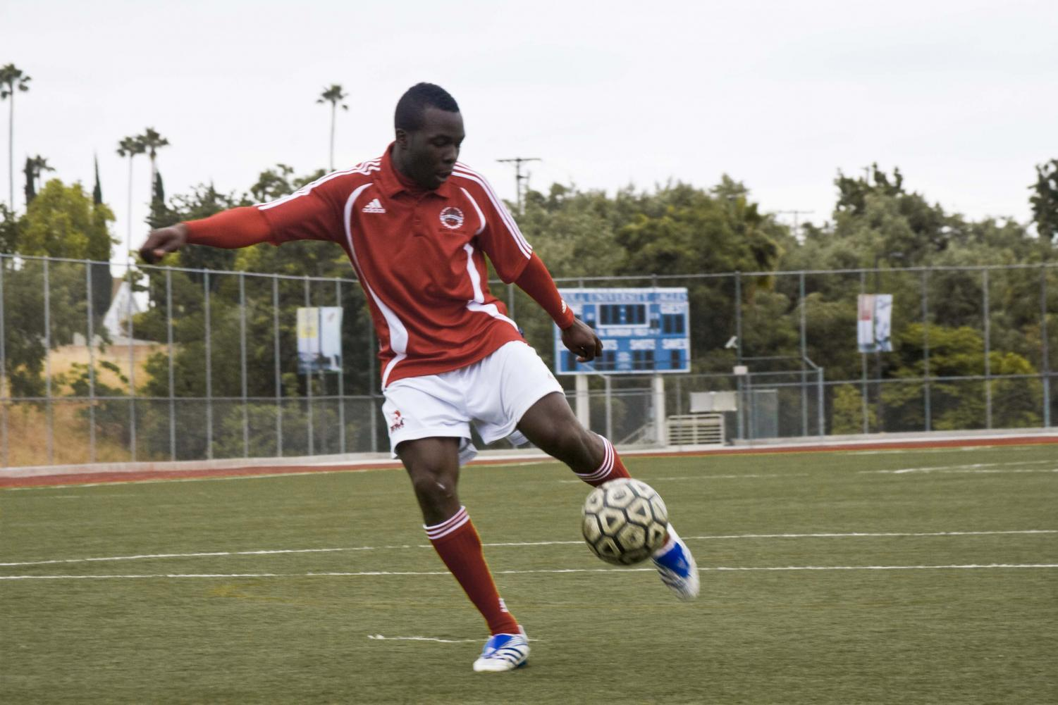 Sophomore Shalom Bako, a forward on Biola's soccer team, has recently been accepted to join the Young Los Angeles Galaxy soccer team.