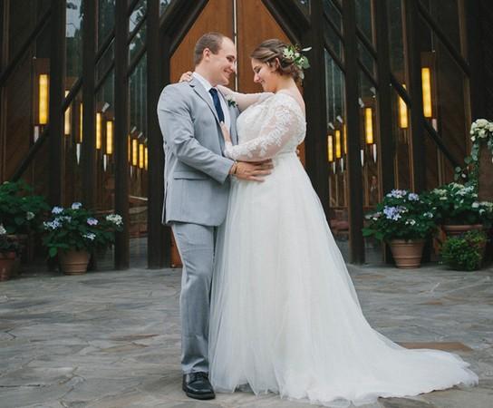 Daniel Messick and his bride