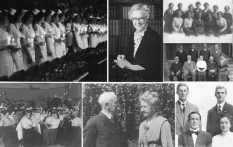 Collage of historic Biola women