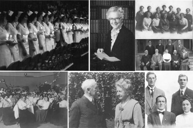 Collage+of+historic+Biola+women