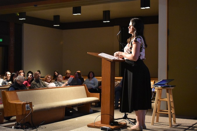 Speaker at the women's apologetics conference