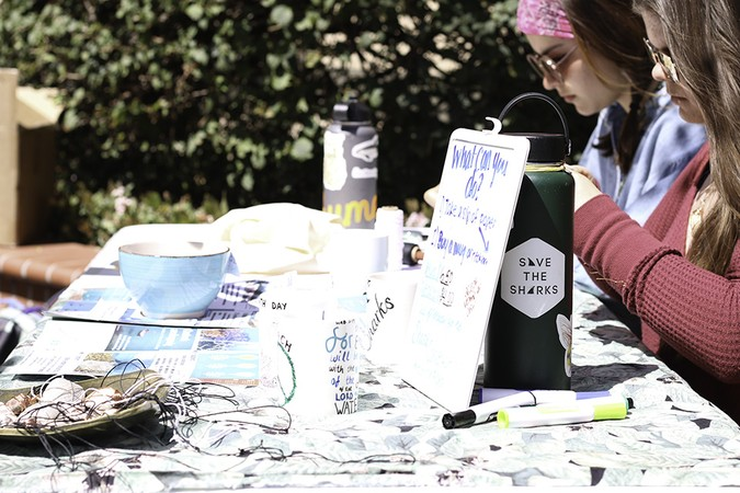 The Biola Environmental Stewardship Team table