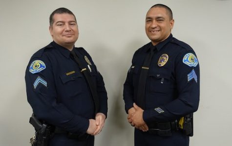 Corporal Aaron Zapata (left) and Seargent Jose Alvarez (right) are undergoing an intense training course to become emergency medical technicians.