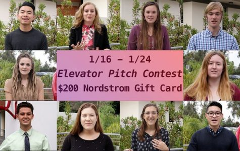 The Career Center is offering a $200 gift card to the student with the best elevator pitch.