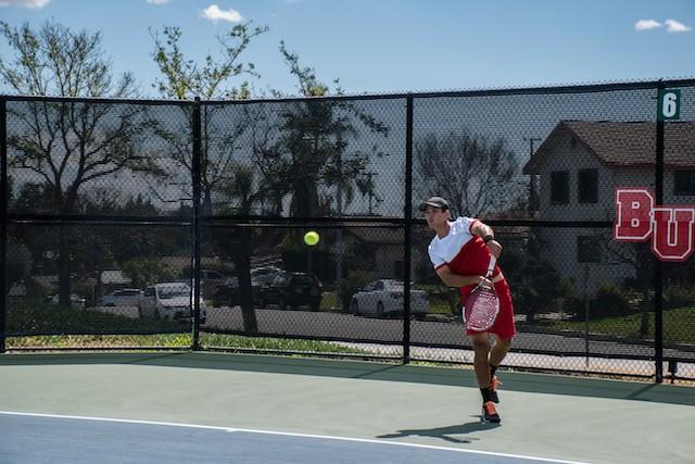 Late heroics lift men's tennis