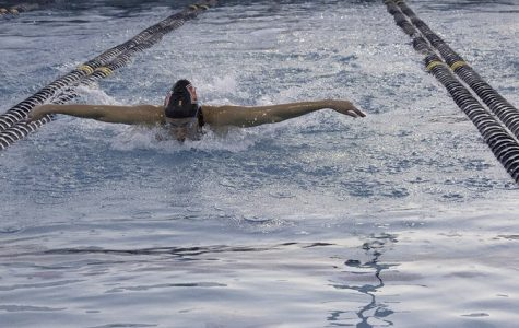 Swim rewrites record books in conference championships