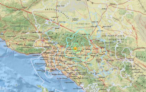 Map of southern california earthquake graph