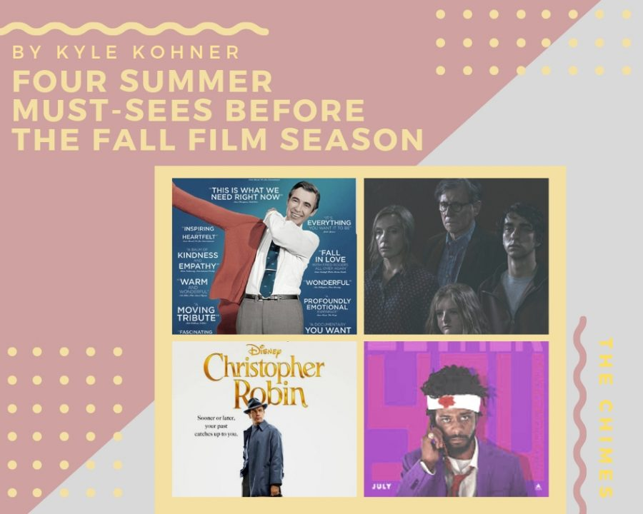 By Kyle Kohner: Four Summer Must-Sees before the fall film season