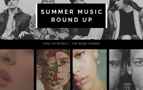 Album covers - Summer Music Round Up; Fool of myself - the band camino; thru these tears: L A N Y; fallin' all in you: Shawn Mendes; Lifeboat: Jorja Smith; Fire: Oh Brother