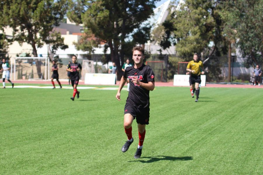 Sophomore forward Jack Cybulski, seen here in a file photo, gave the Eagles a 1-0 win over Hawaii Pacific on Oct. 11 with his goal in the 59th minute.