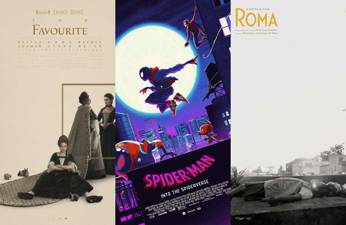 "Watch it before it's gone: ""The Favourite,"" ""Spider-Man: Into the"