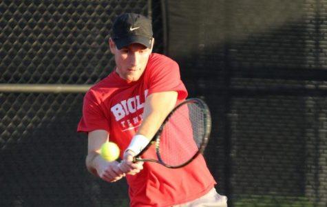 Men's tennis falls short in season opener