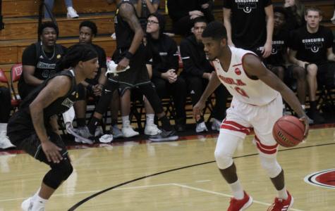 Men's basketball loses nail-biter at Fresno Pacific