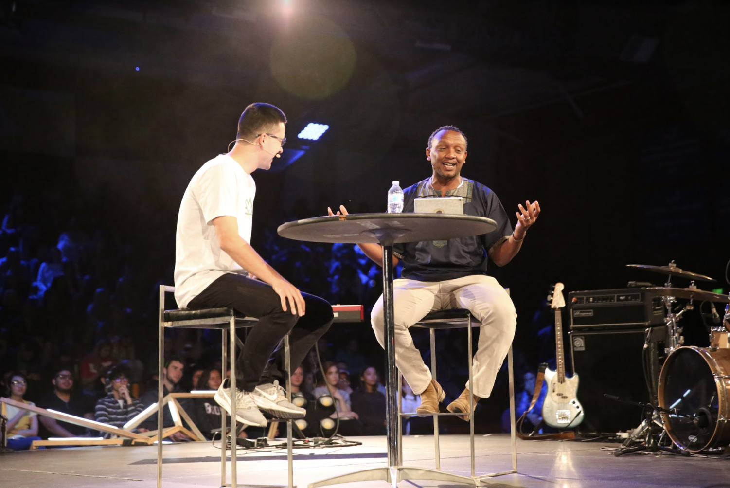 Christian+Mungai%2C+the+Global+Engagement+Pastor+of+Mariner%27s+Church%2C+has+a+Q%26A+session+with+emcee+Jake+Nagy+during+Day+2+of+the+2019+Missions+Conference+on+March+21.