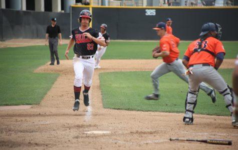 Baseball splits doubleheader