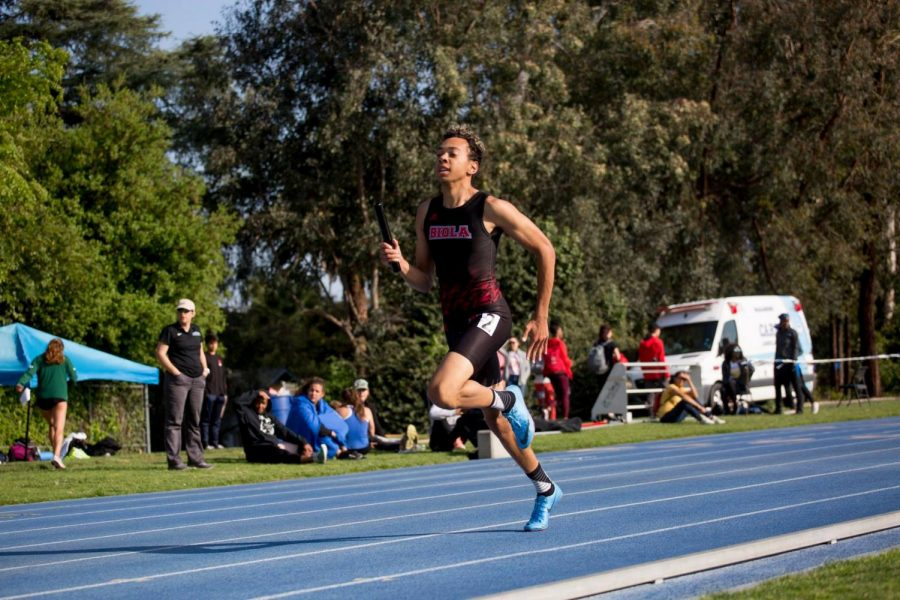Track and field competes at the PacWest Championships