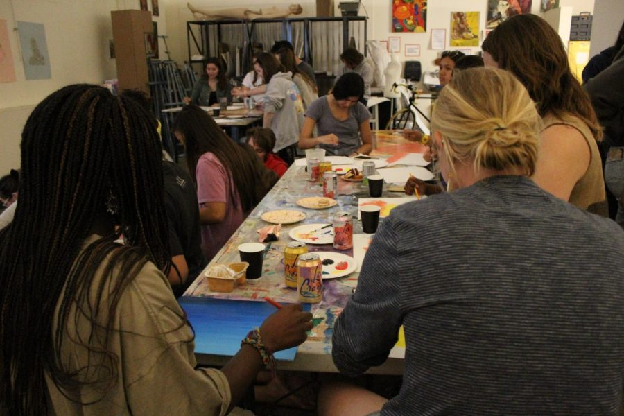 Art league hosts free painting with Bob Ross
