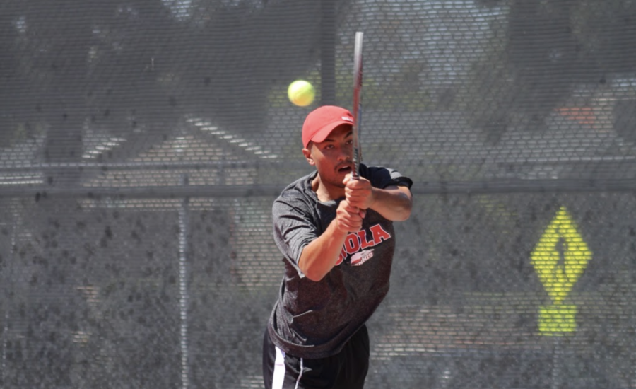 Men's tennis takes down old rival