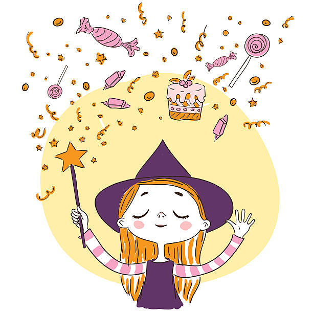 Cute+little+witch+wants+to+conjure+magic+wand+a+lot+of+sweets.