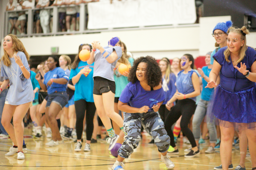 Alpha+students+come+together+to+play+dodgeball+at+Nationball+2019.+