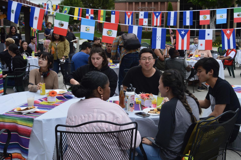 Biola students enjoy a variety of Latino food during the 2019 Fiesta Latina.