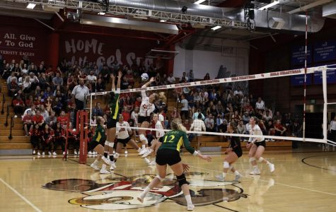 Volleyball's young team gives up home opener