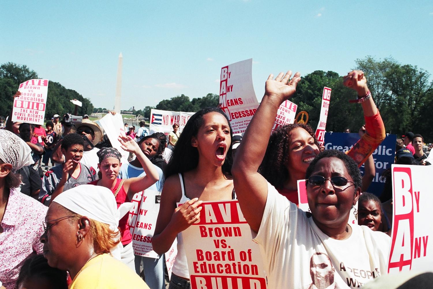 Protesters fight for affirmative action by demanding equality in employment and admissions