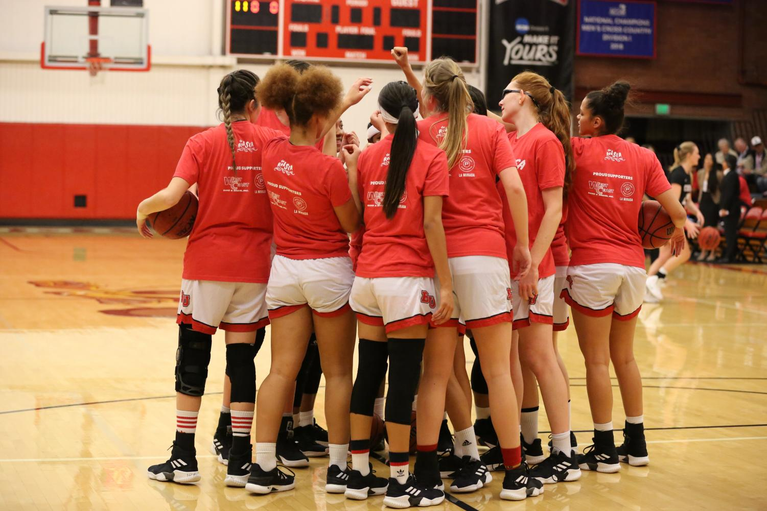 The women's basketball team comes together for one common goal, winning the 2019-20 NCAA Dll PacWest championship.