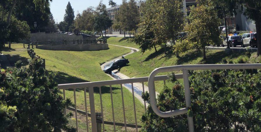 LASD arrests man who crashed car into creek near La Mirada entrance