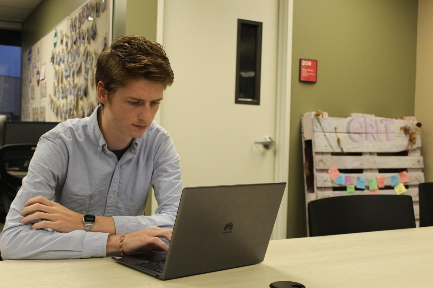 SGA's Vice president of finance, human resources and technology Thomas Burgess had to figure out what happened to SGA's missing scholarship funds.