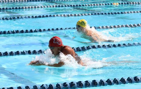 Swim and dive competes in Pacific Collegiate Swim Conference Pentathlon at Splash Aquatic Center.