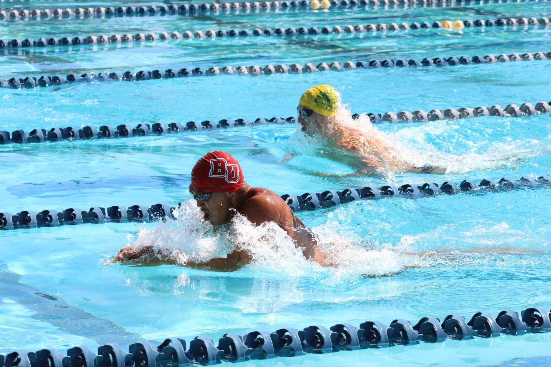 Swim and dive competes in Pacific Collegiate Swim Conference Pentathlon at Splash Aquatic Center.