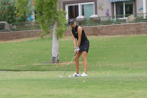 Women's golf competes in the Holy Names