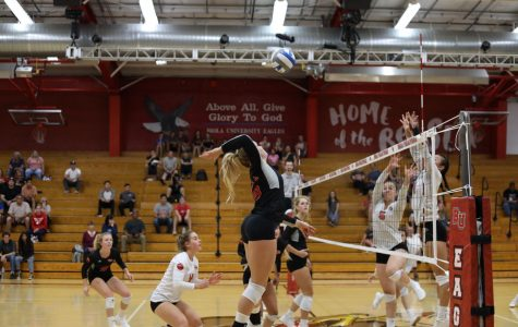 Biola goes in for the strike against their opponent Concordia Irvine University on November 1, 2019.