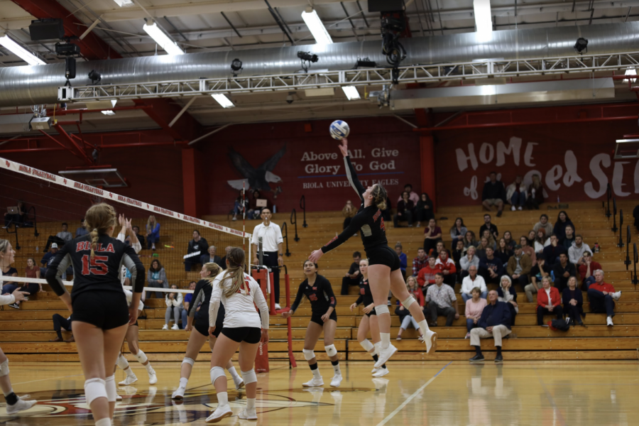 Volleyball falls short to Chaminade University at home.