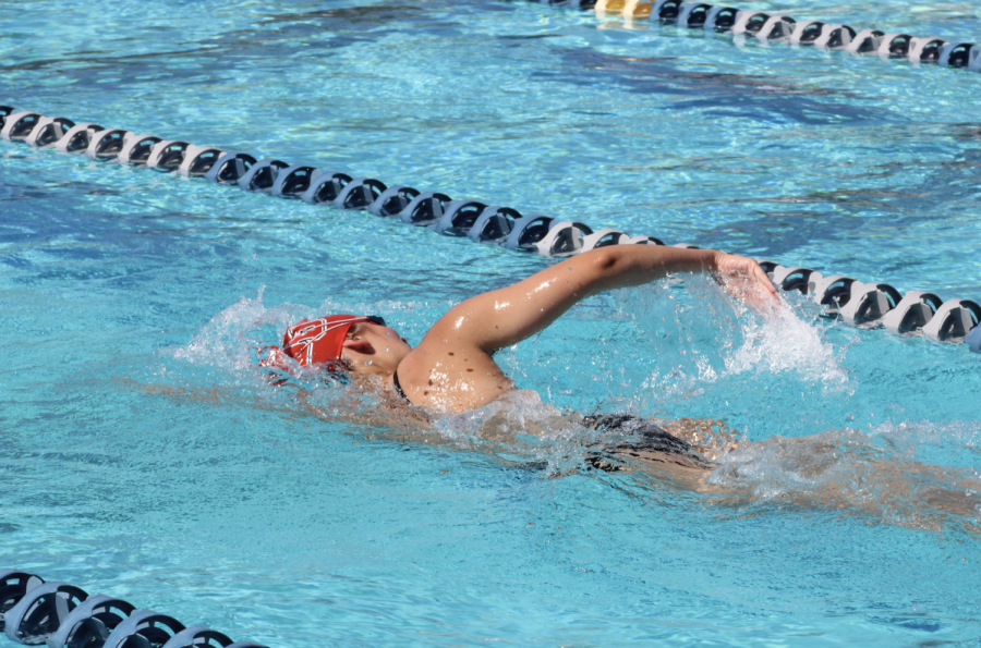 Women's swim falls short of win at Dixie State