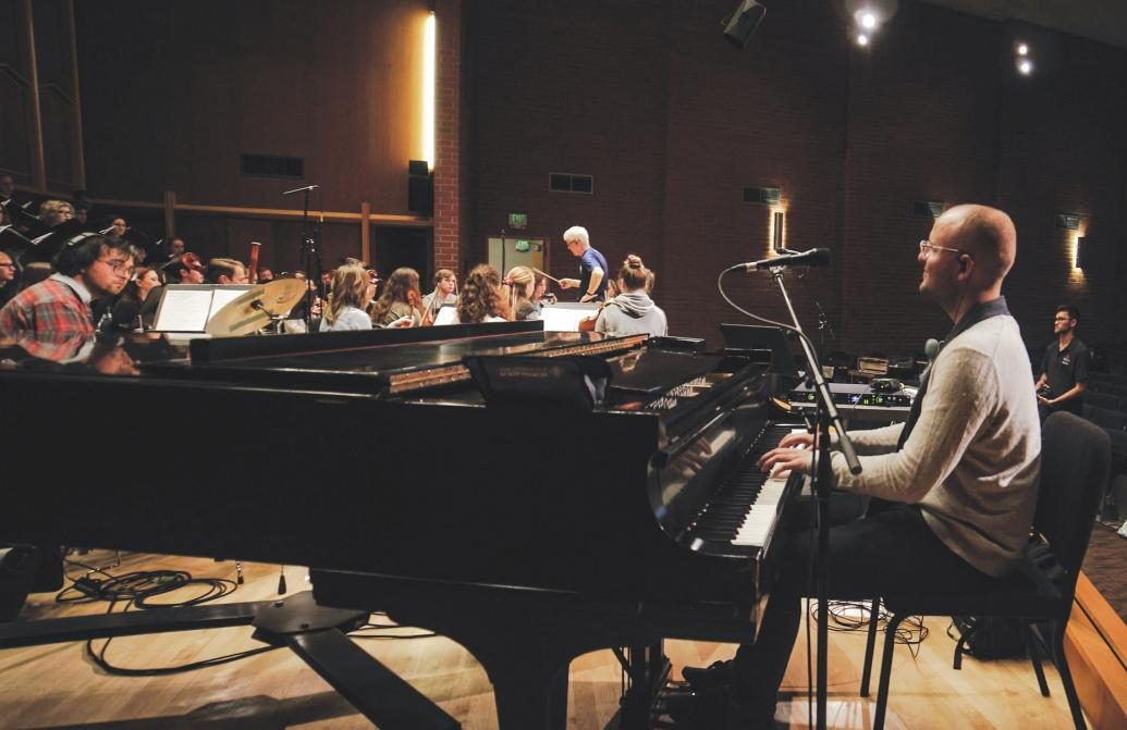 The Conservatory of Music's orchestra and chorale worked on the project with The Brilliance.