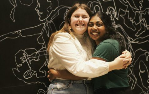 Keren Godwin (right) and Gretchen Ferguson (left) win the SGA election for president and vice president.