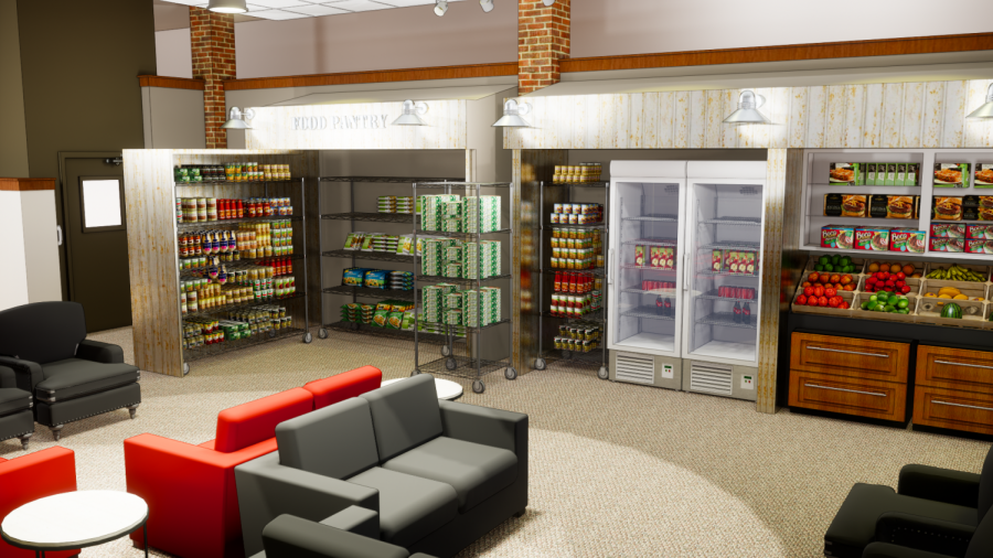 Simulation shows what the permanent food pantry could look like.