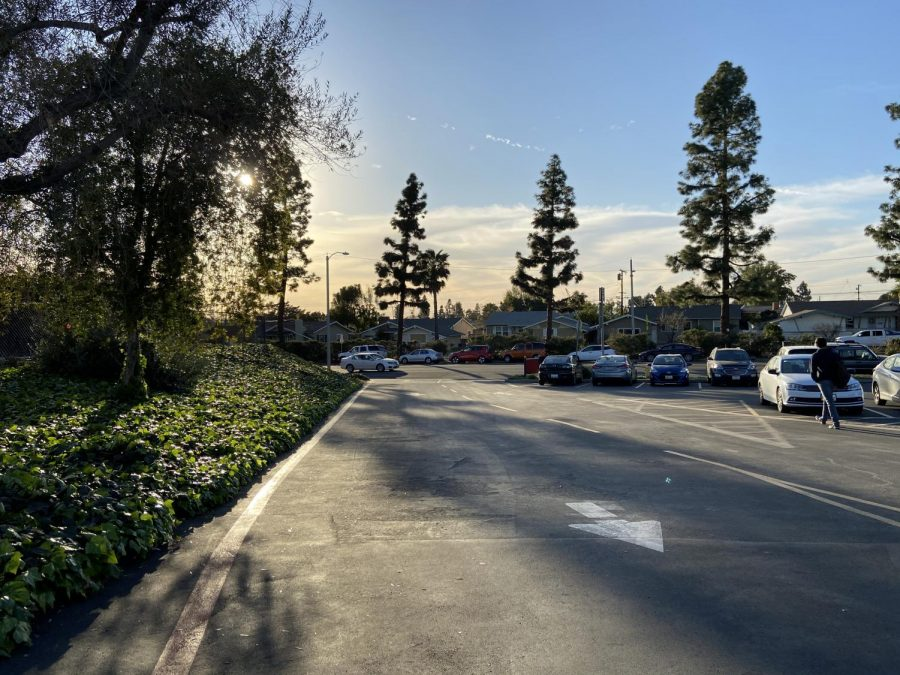 The Lot C exit to Biola Avenue, where the collision occurred.