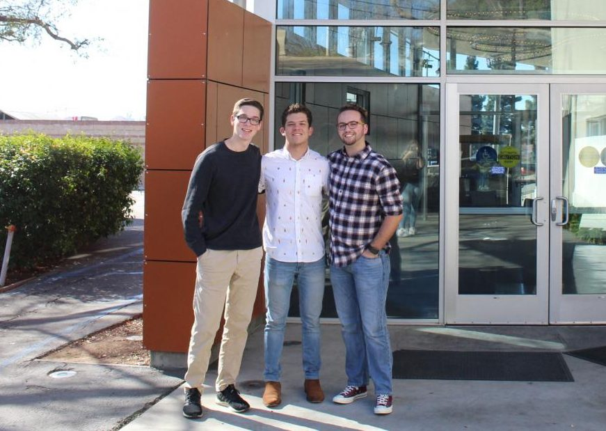 [Left to Right] Michael Berriman, Tanner Myatt and Kyler Robinson.