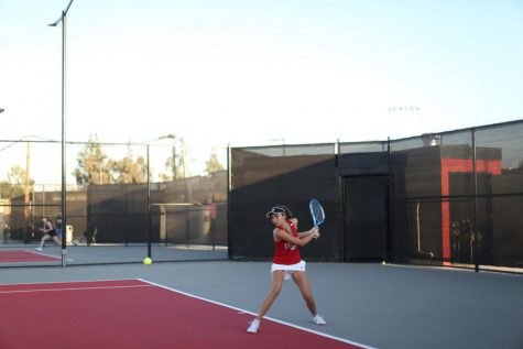 Men's tennis shuts out San Diego Christian