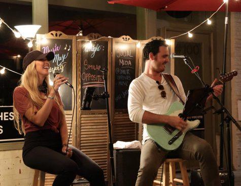 Niki Small and Jordan Yarbrough, performing as their duo Similar Opposites.
