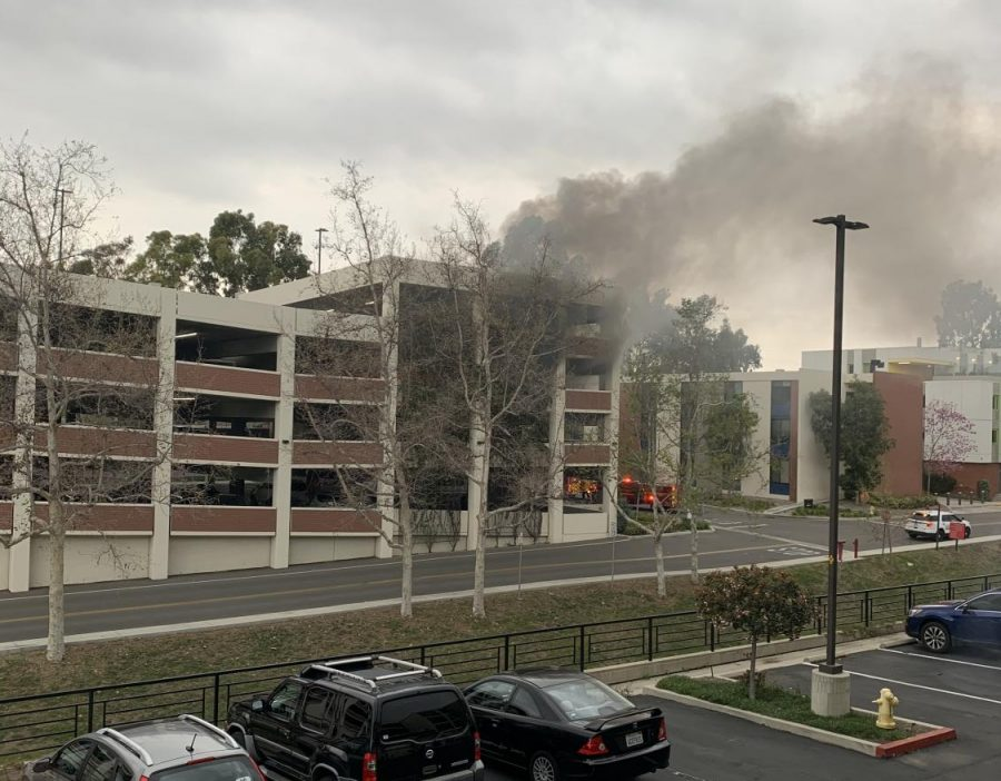 BREAKING: Car catches fire in Lot K