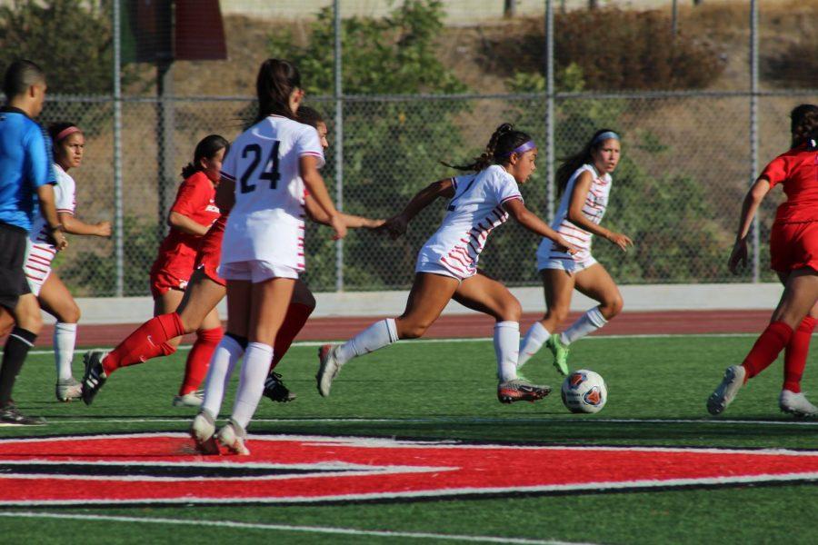 Womens soccer steals a win