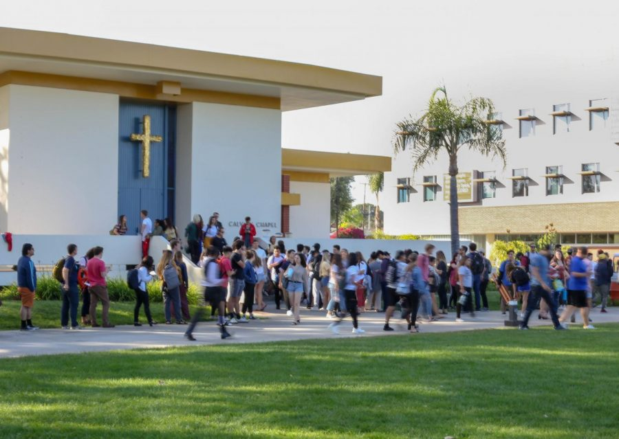 Chapel continues in person